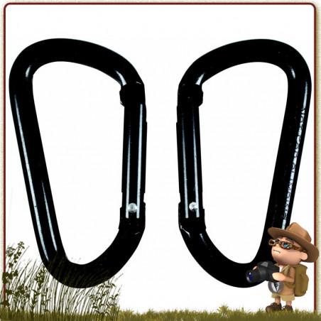 Mousquetons Noir 60 mm BCB International