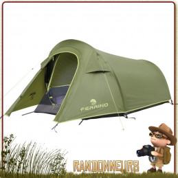 Tente sling 2 places FERRINO ultra légère idéale pour le trekking et bikepacking 3 saisons aérée sans condensation