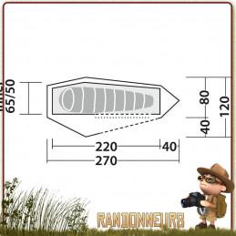 Tente Arrow Head ROBENS une 1 place ultra legere tunnel pour la randonnee minimaliste en velo vtt