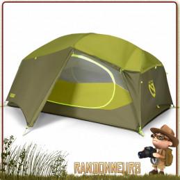 Tente AURORA 2P NEMO autoportante randonnee bivouac camping grand espace habitable
