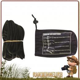 Kit de fixation pour hamac avec 2 x 4 mètres de corde nautique det pochette de rangement avec schéma de montage