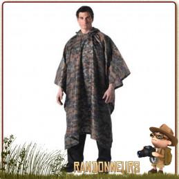 Poncho tarp militaire camouflage pour montage tarp étanche en bivouac bushcraft survie nature