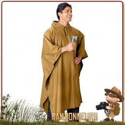 Poncho Tarp Militaire Coyote Tan Rothco