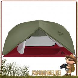 TENTE MSR ELIXIR 3 - Tente de randonnée légère et de camping nomade, pour trois personnes et utilisable sur trois saisons