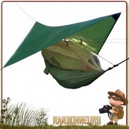 hamac asymétrique Highlander avec moustiquaire et tarp intégré. Un hamac militaire bivouac survie bushcraft